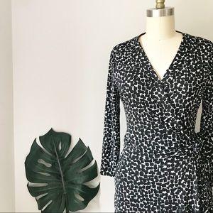 BCBGMaxAzria • Brush Stroke Wrap Dress